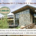 Nederland Community Library Homepage